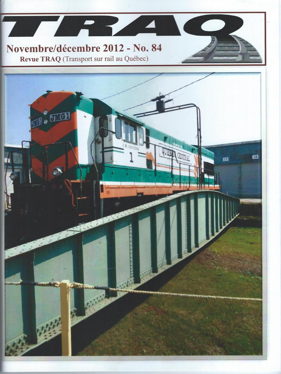 Rail Québec #084 - Novembre / Décembre - 2012