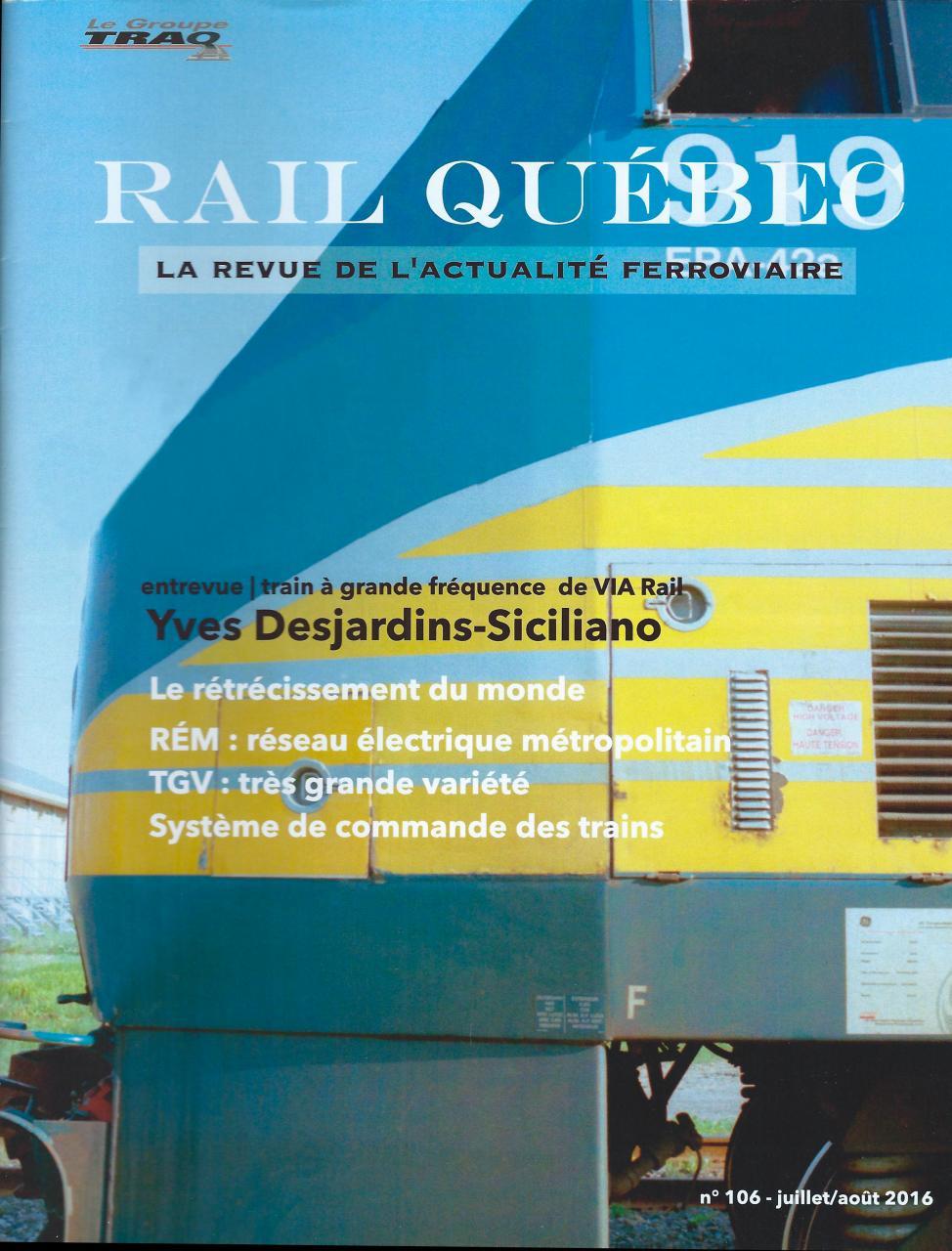 Rail Québec #106 juillet / aout 2016